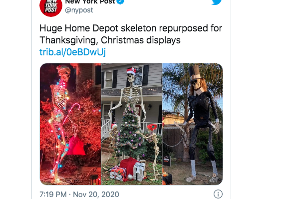 The Giant Home Depot Skeletons Are Now Christmas Decorations 963xke Fort Wayne S Classic Rock Fort Wayne In